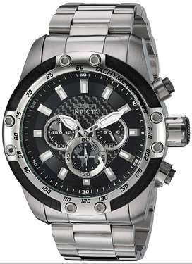 Reloj Hombre Invicta Speedway Crono Plateado Negro 28657