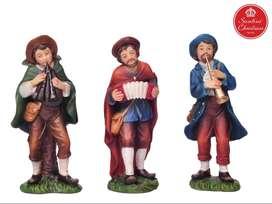 Aldeanos Músicos Pesebre x3 Medida: 13 cm Marca: Santini