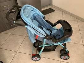 Coche Cuna Bebé Mattina Ms-561b Azul