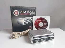 Placa de sonido M-AUDIO Fast track (usb interface)