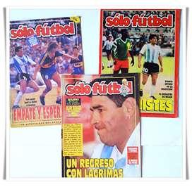 5 Revistas de Futbol 3 Solo Futbol + Olé Especial Boca Campeón de América 2000 + El Gráfico Anuario 2000 con el Tricampe