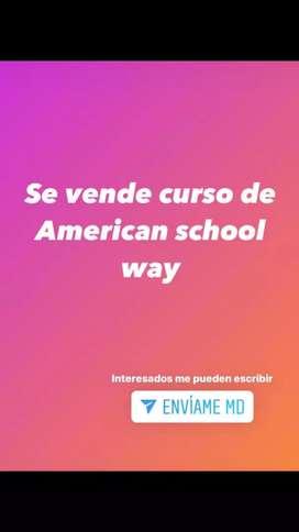 Vendo curso de inglés súper barato en el American School Way