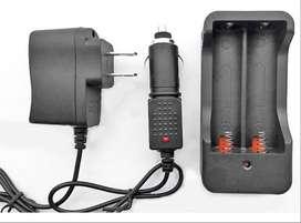 Cargador Baterias 18650 Dual Bateria Li-ion Litio 110v Y 12v