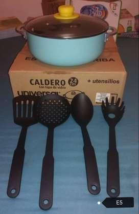 Caldero + utensilios Universal