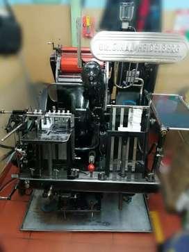 Máquina tipográfica Heidelgerg Octavo bola roja