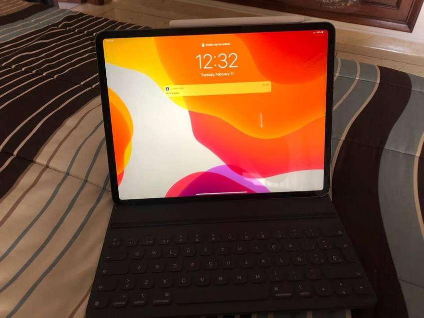 Ipad Pro 12 pulgadas 256GB + Red Celular 4G+ Lápiz Mac + Teclado 0
