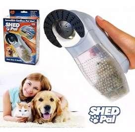 Aspiradora removedor quita pelos de para mascotas perros y gatos electrica manual shed pal