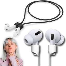 Cable Siliconado Magnetico Para Audifonos Bluetooth AirPods Negro