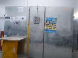 Horno para pintura electrostática