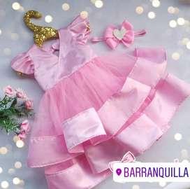 Vestido de princesa talla 12 meses