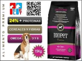 Biopet Premium Perro Adulto Raza Pequeña 15Kg.