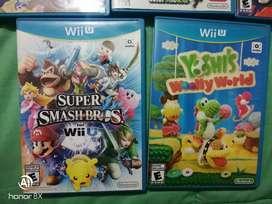Vendo juegos nintendo WII U