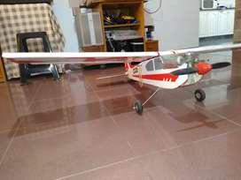 Vendo Avion entrenador Cesena Usado con Motor 50 cc Os+ Radio control Futaba 7 canales