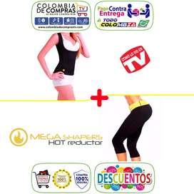 Cami Senos Libres Liso o Con Broches Pantalón Térmico Mega Shapers Hot Reductor, Nuevos, 100 Original y Garantizados