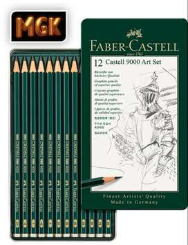 LÁPICES DE GRAFITO CASTELL 9000 (SET DE ARTE) FABER-CASTELL x 12 UNIDADES