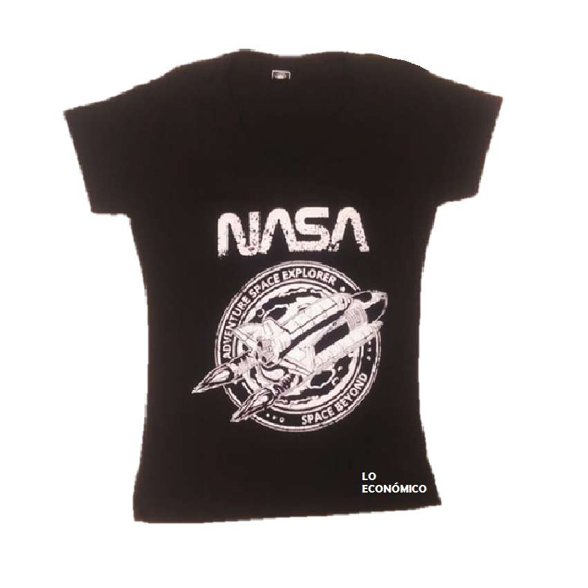 Camiseta Negra Para Dama De La Nasa
