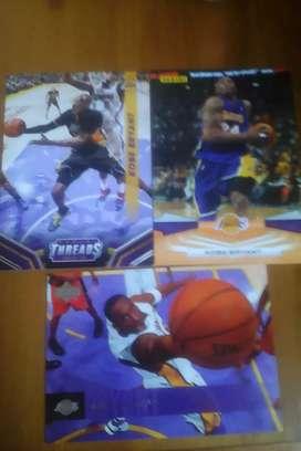 3 Kobe Bryant Basketball Cards