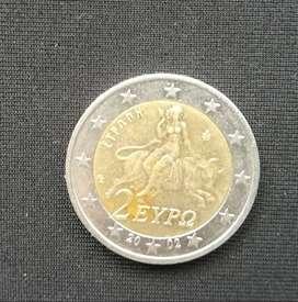 Moneda Dos  Euro Grecia