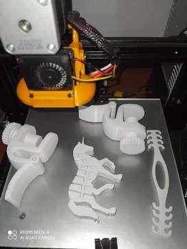 Se vende impresora 3 d solo dos usos
