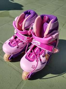 Rollers patines Valentina con casco y.protectores