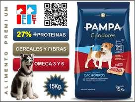 Pampa Criadores Cachorro 15 Kg.