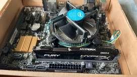 Mainboard ASUS H110M-R + Procesador Intel i3 6100 6ta gen. + Ram 8gb DDR4 Hyper X Fury