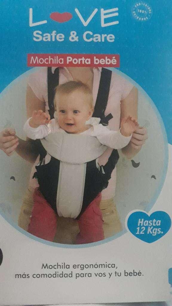 Mochila Porta Bebe Love Nueva 0