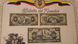 Billetes  ANTIGUOS.Ecuador
