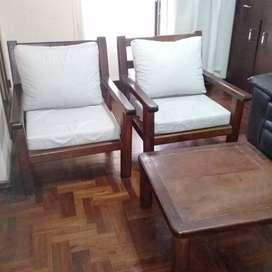 Juego sillones y mesa ratona