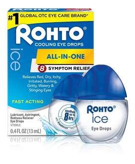 Rohto Ice  Lubrica, es astringente y ayuda a aliviar a los ojos rojos