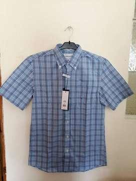 Camisa Para Hombre Manga Corta Marca Saddlebred Americana