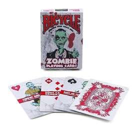 Cartas Bicycle Zombie Hechizo Resurrección Terror Original.