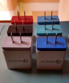 Cargador Original Carga Rapida Multiple Qualcomm Triple USB 1x3.0A, 2x2.1A
