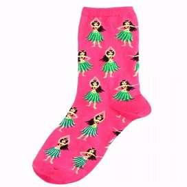 Medias color Rosa Con Diseño de Bailarinas Hawaianas
