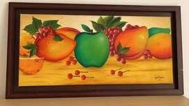Hermoso cuadro de Frutas