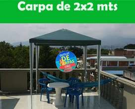 CARPA DE 2X2 METROS VERDE Importada. Cubierta de Polietileno Domicilios en Cali y Envíos a toda Colombia