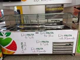 Burbuja comercial refrigerado para fruteria