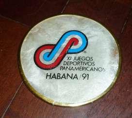 ANTIGUO POSAVASOS ORIGINAL DE LOS JUEGOS DEPORTIVOS PANAMERICANOS LA HABANA 1991 CUBA