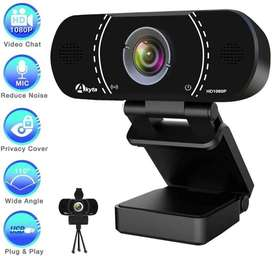 Webcam 1080p 30fps Videoconferencias, clases, chat + Tripode
