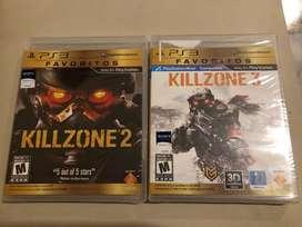 Vendo videojuegos Killzone 2 y Killzone 3 para PS3