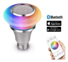 Bombillo inteligente Bluetooth-led multicolor/ parlante bluetooth