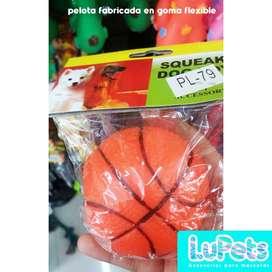 pelota naranja perro con sonido