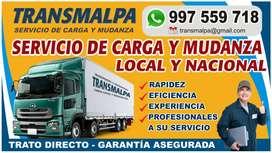 Transporte de carga y mudanza local y nacional