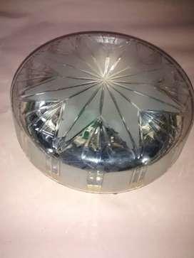 Plafón de cristal y bronce