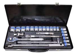 Juego Copas Raches Dat524 24 Pz Mecánica Profesional Cromo