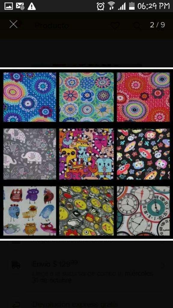 Lonas Multicolor Estampadas 0