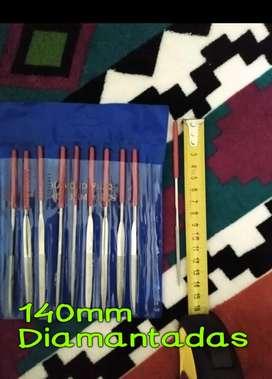 Limas Diamantadas 140mm Blister x10u ideal para madera