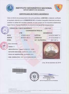 SERVICIOS TOPOGRÁFICOS COLOCACION PUNTOS GPS HUANCAYO