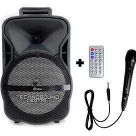 Parlante Cabina Estilo Maleta De 8 /bluetooth Tws Kx-802 con MicrofonoGarantía de 3 meses por defectos de fabrica