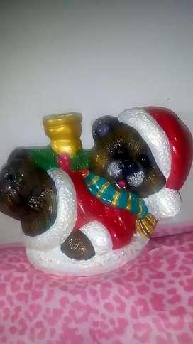 Oso navideño en ceramica